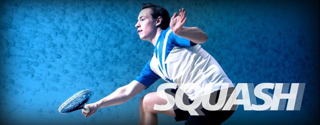 Två squashbanor i Sportarenan