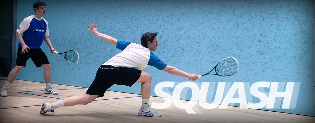 Squash i Sportarenan. Testa Racketlon